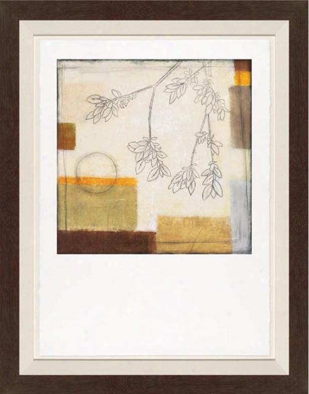Autumn Moon Ii Wall Art - Black Frame, White