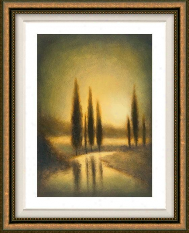 Autumn Oasis Ii Framed Wall Practical knowledge - Ii, Floated Gold