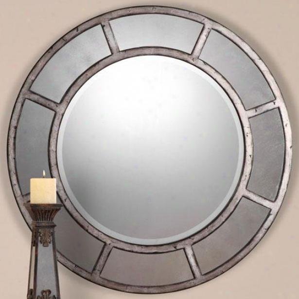 """avila Wall Mirror - 36""""hx36""""w, Silvery"""