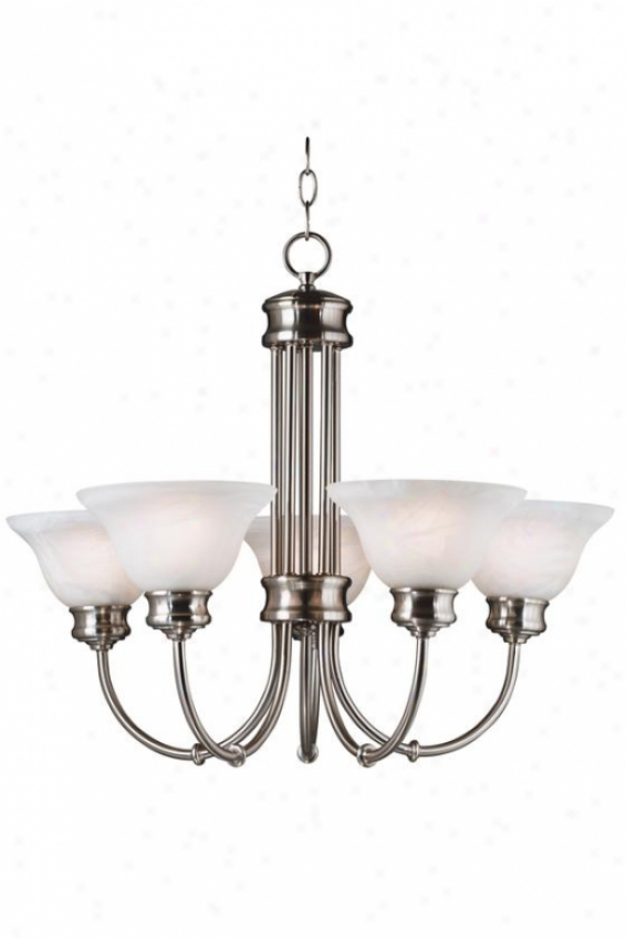 Bailey Chandelier - 5-light, Grey Steel