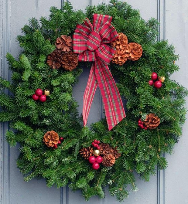 """balsam Wreath - 30""""h, Green"""