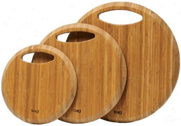 Bamboo Cutting Boardds - Set Of 3 - Set Of 3, Ivory