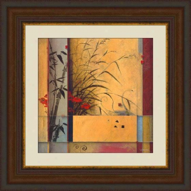 """""""bamboo Division Framed Wall Art - 39""""""""hx39""""""""w, Brown"""""""