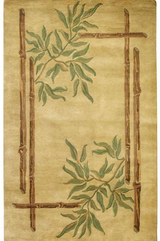 Bamboo I Area Rug - 8'x11', Gold