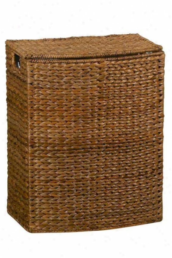 """banana-leaf 18""""w Rectangular Clothes Laundry Hamper - Rctnglr 18""""w, Brown"""