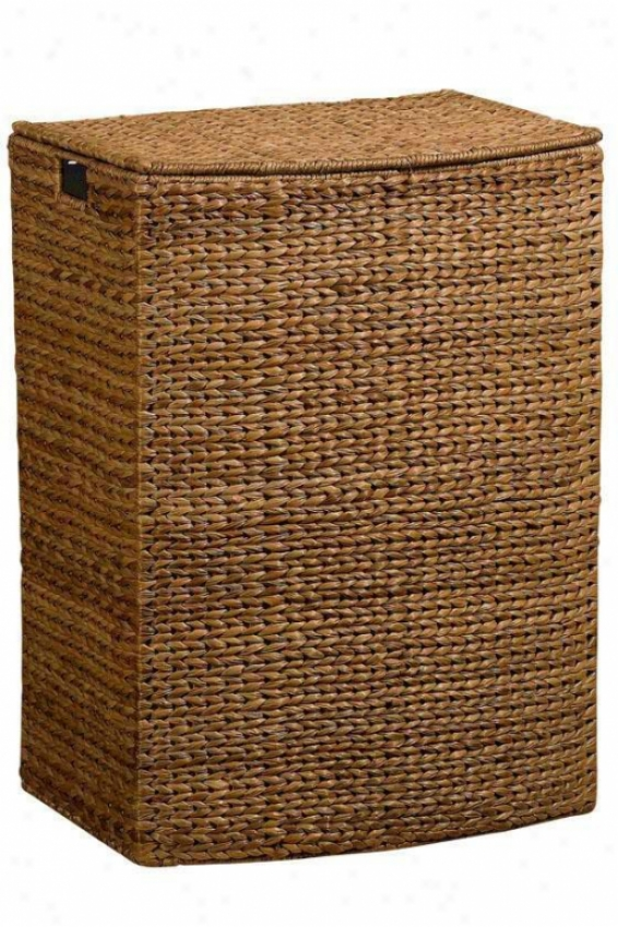 """banana-leaf 24""""w Rectangular Clothes Laundry Hamper - Rctnglr 24""""w, Brown"""
