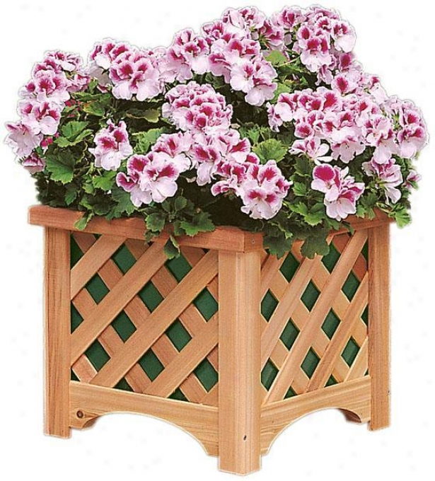 """bancroft Windsor Square Planter - 17""""h X 19""""sq, Maroon"""
