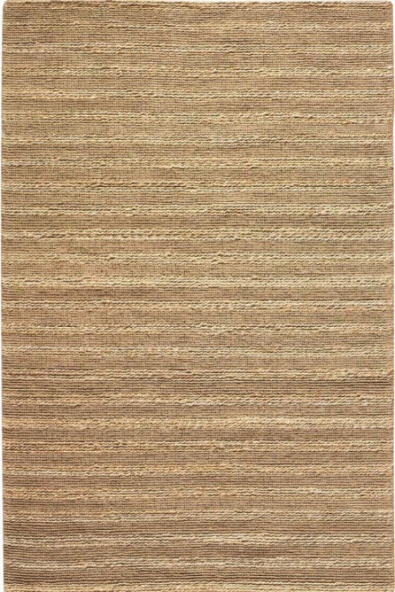 Banded Jute Area Rug - 8'x11', Ivory