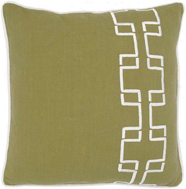 """barberry Pillow - 18""""x18"""", Green"""