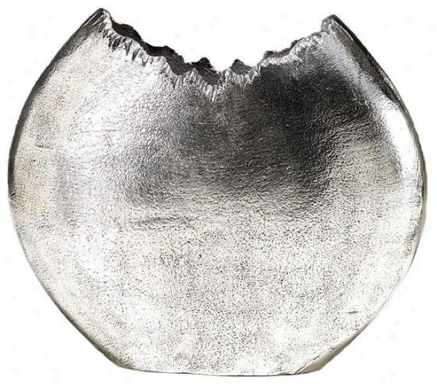 Bark Vase - Small, Silver