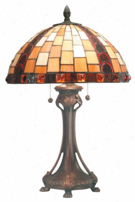 """baroque Table Lamp-  25h X 16.25""""d, Bronze"""