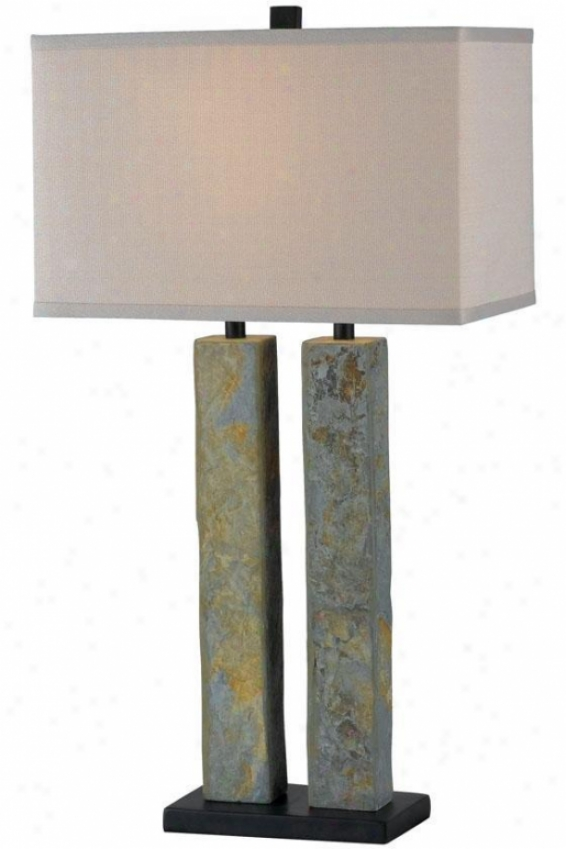 """barre Flat Lamp - 30""""h, Slate Gray"""