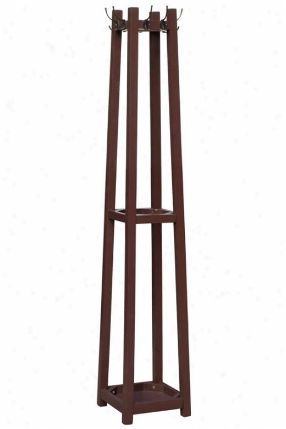 """""""barry Coat Rack - 12""""""""wx12""""""""dx71""""""""h, Brown"""""""