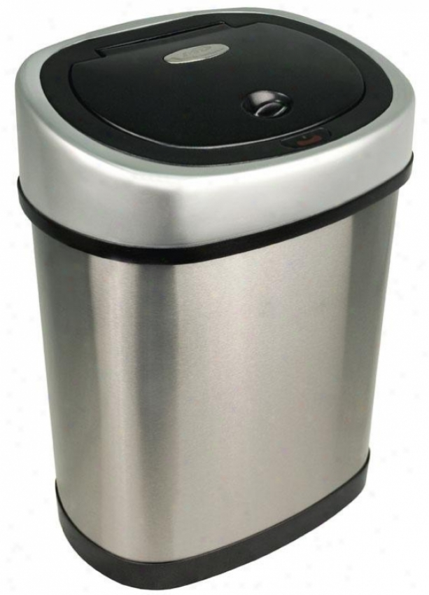 Bathroom Motion Detector Trash Can - 3.2 Gallon, Brushed Stainls