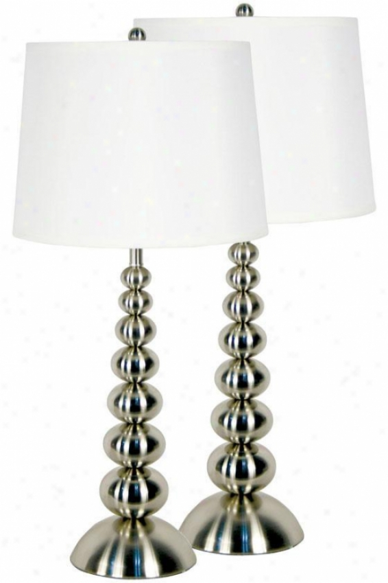 """""""baubles Table Lamps - 2-pack - 30""""""""hx14""""""""d, Grey Steel"""""""