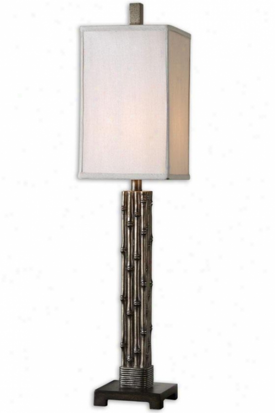 """baubusa Buffet Lamp - 37""""h, Burnish Silver"""