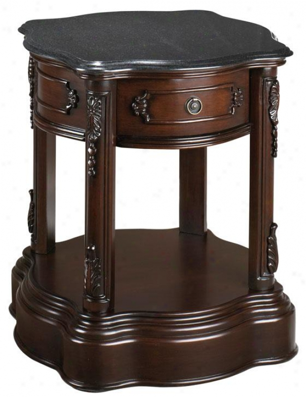 """baymont 24.5""""h Side End Table - 24.5""""hx21""""w, Plymth Brw Mhgn"""