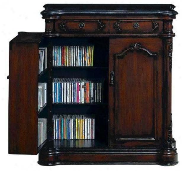 """baymont Media Case With Storage Doors - 36""""hx32""""w,P lymth Brw Mhgn"""