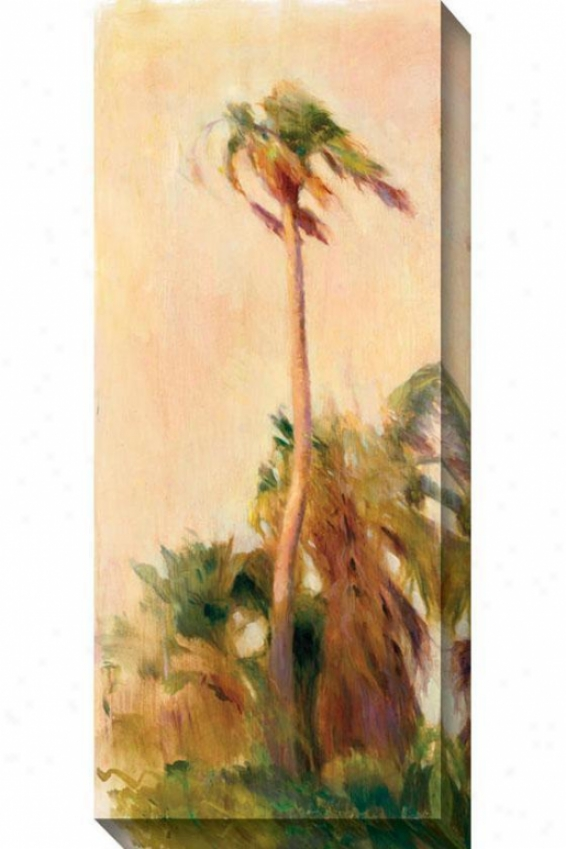 Beach Palm I Canvas Wall Art - I, Ivory