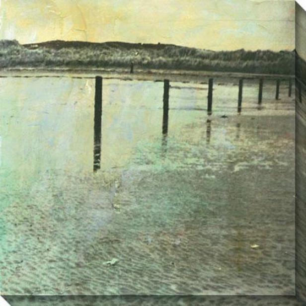 Beach Series Iii Canvas Wall Trade - Iii, Green