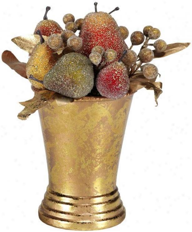 """beaded Pear Topiary - 9.5""""h, Multi"""