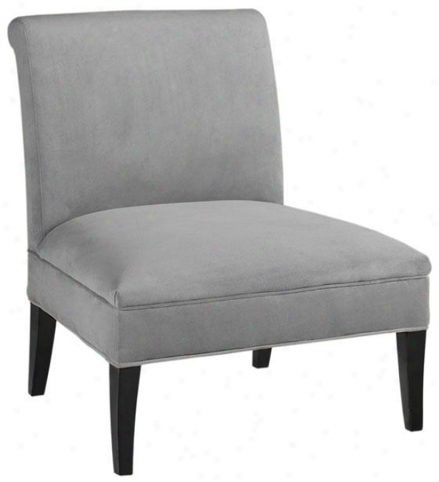 """beale Slipper Chair - 40""""hx26.75""""w, Solid Vlvt Grey"""