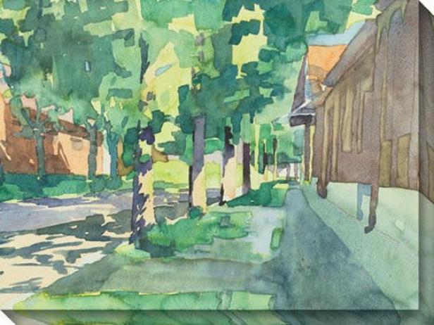 """""""bekes Walk Canvas Wall Art - 48""""""""hx36""""""""w, Green"""""""