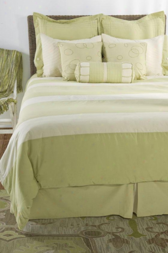 Belinda Bedding Set - Full 5pc Set, Green