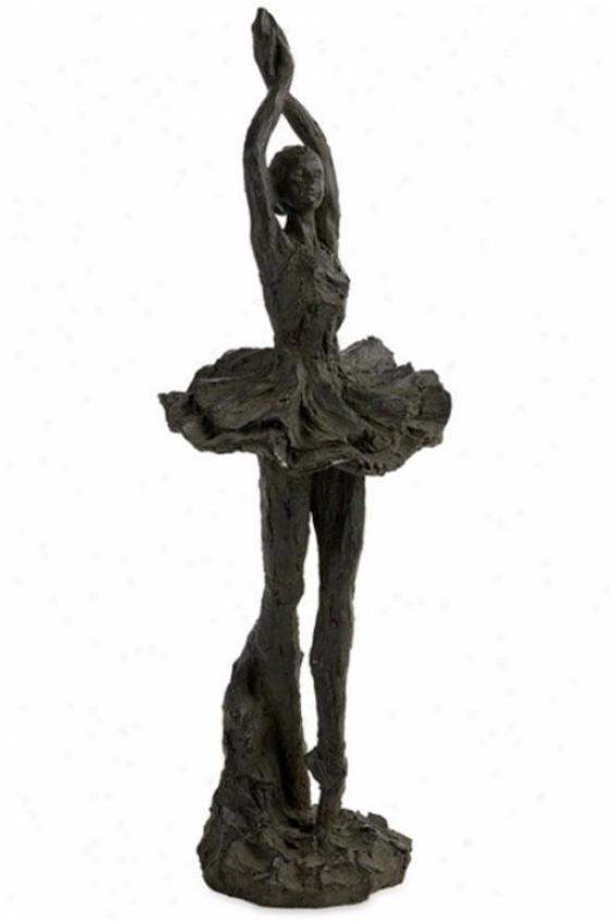 """bella Ballerina Sculpture - 18.5""""hx6.25""""w, Black"""