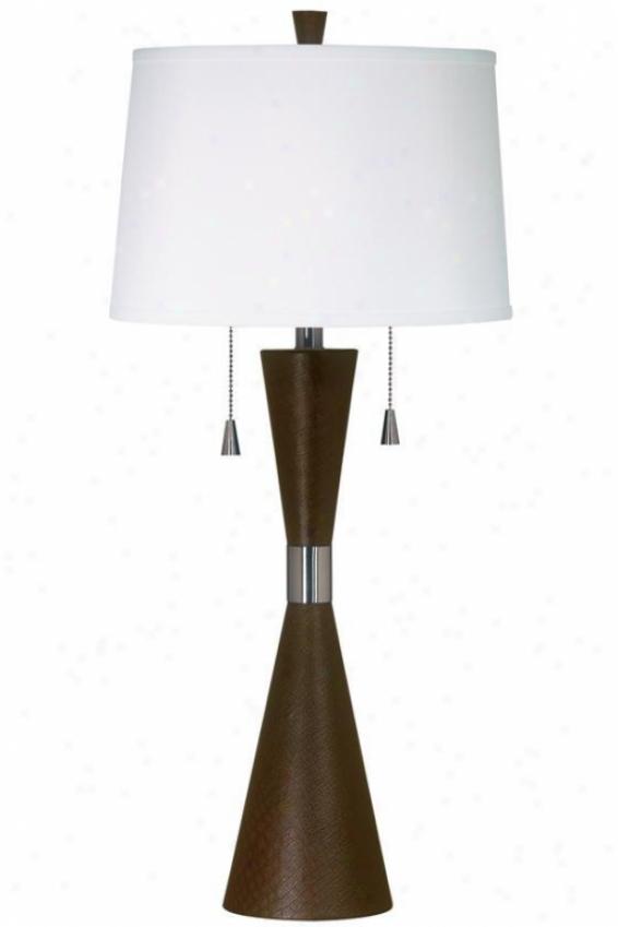 """bella Table Lamp - 32""""h, Chclt Fx Lthr"""