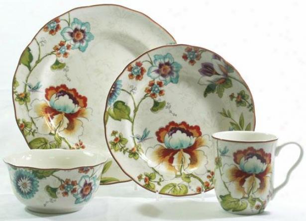 Bella Vista 16-piece Dinnerware Set - 16 Pc Set, Floral Multi
