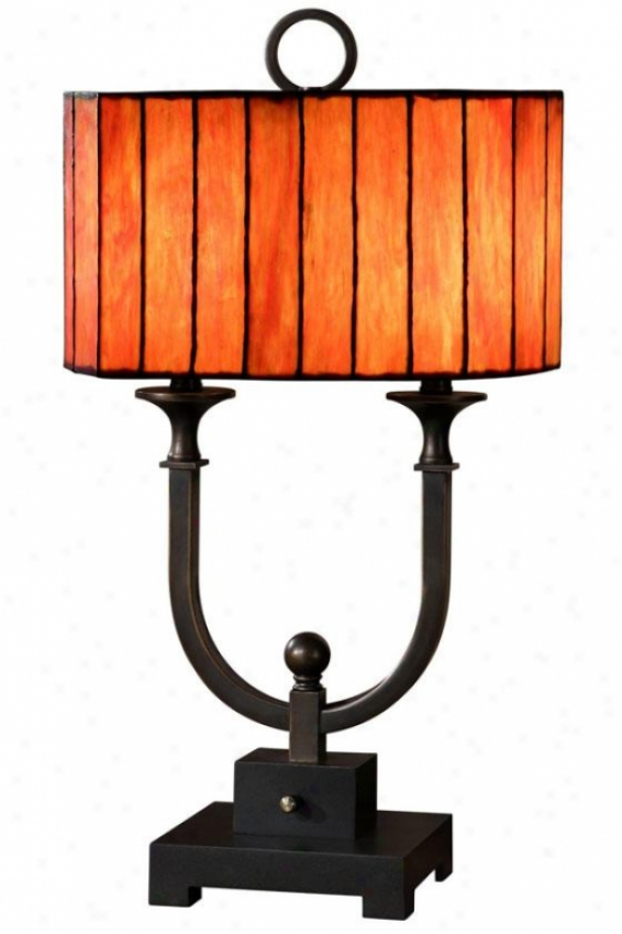 """belleview Table Lamp - 28""""h ,Large boiler Bronze"""