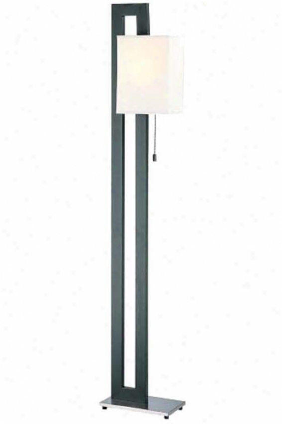 """""""benito Floor Lamp - 5""""8""""hx11""""""""ww, Black"""""""