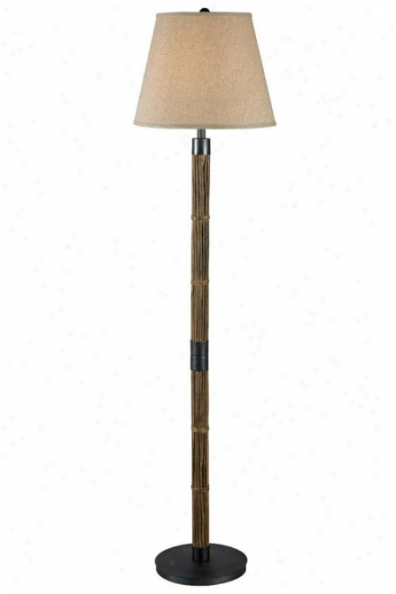 """bethany Floor Lamp - 59""""h, Natural Reed"""