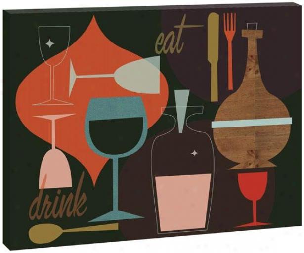 Bevilo Walll Art - 40hx50wx1.5d, Multi