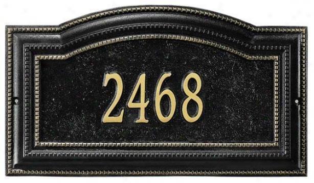 Bevolo One-line Estate Lawn Address Marker - Estate 1 Line, Black