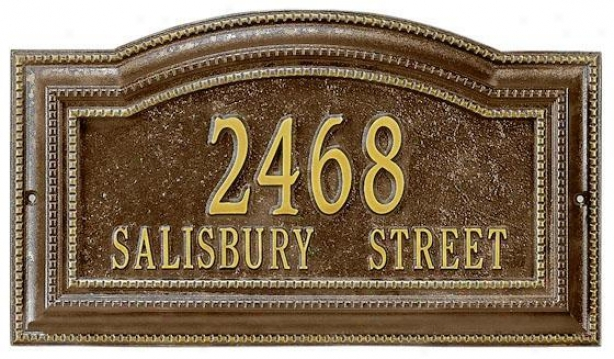 Bevolo Two-line Estate Wall Address Marker - State 2 Line, Large boiler