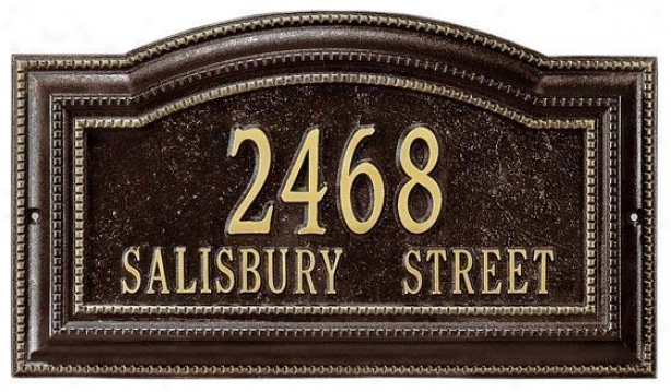 Bevolo Two-line Standard Wall Address Marker - Standard 2 Line, Oil Rubbed Bronze