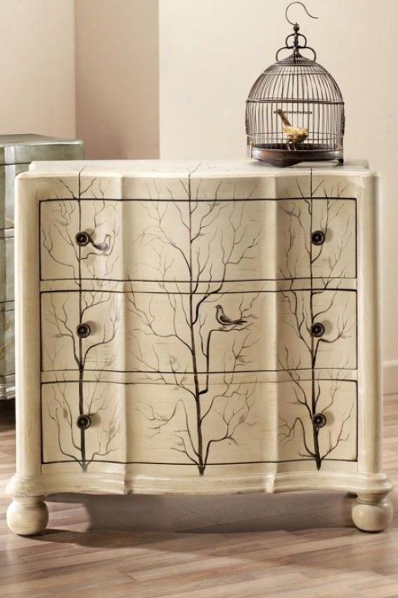 Bird Chest - 3-drawer, Ivory