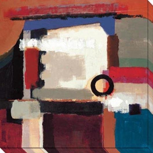 Birth Of Success Ii Canvas Wall Art - Ii, Red