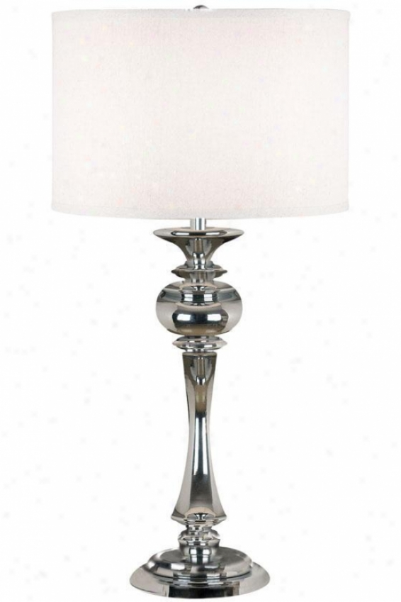 """bishop Table Lamp - 32""""h, Silver Chrome"""
