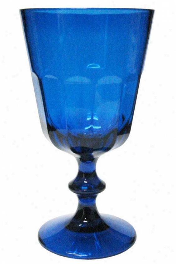 """bistro Wine Glass - Set Of 4 - 7""""h, Blue"""