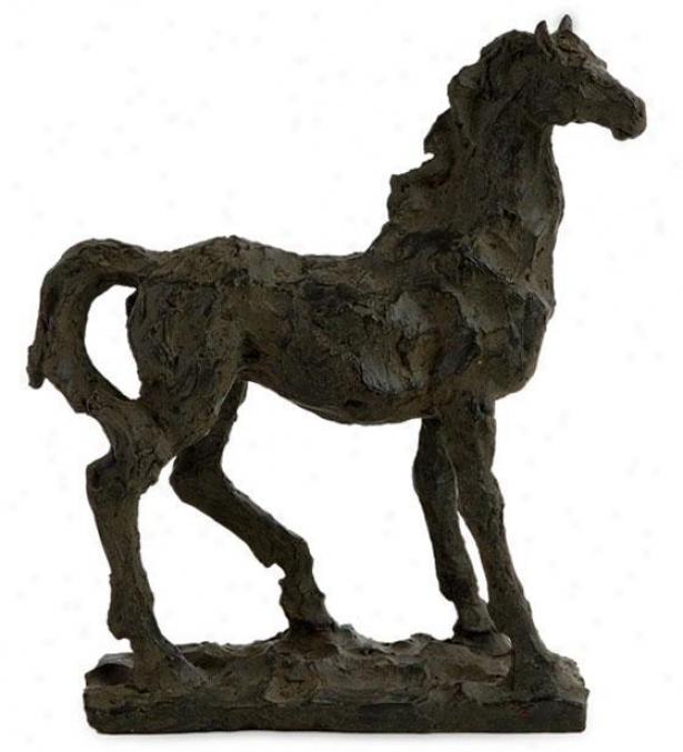 """black Beauty Hprse Sculpture - 10.5""""hx9.5""""w, Black"""
