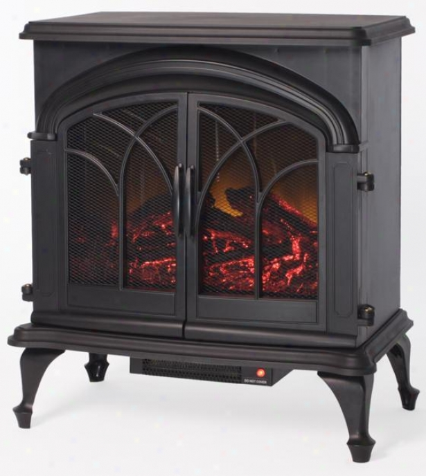 Blake Electric Stove Fireplace - Metal, Black