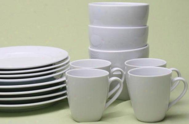 Blanco 16-piece Dinneeware Set - 16 Piece Set, White