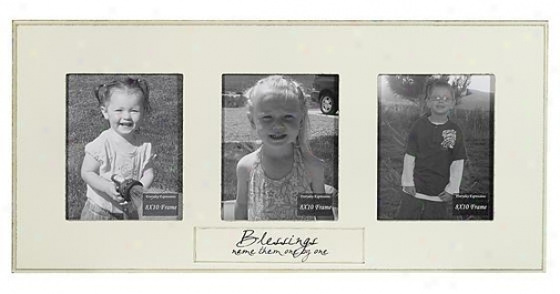 Blessing Name Them One By One Frame - 8 X 10 - 3(8x20), Ivory