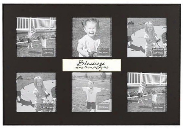 Blessing Name Them One By One Frame - 8 X 8 - 6(8x8), Black
