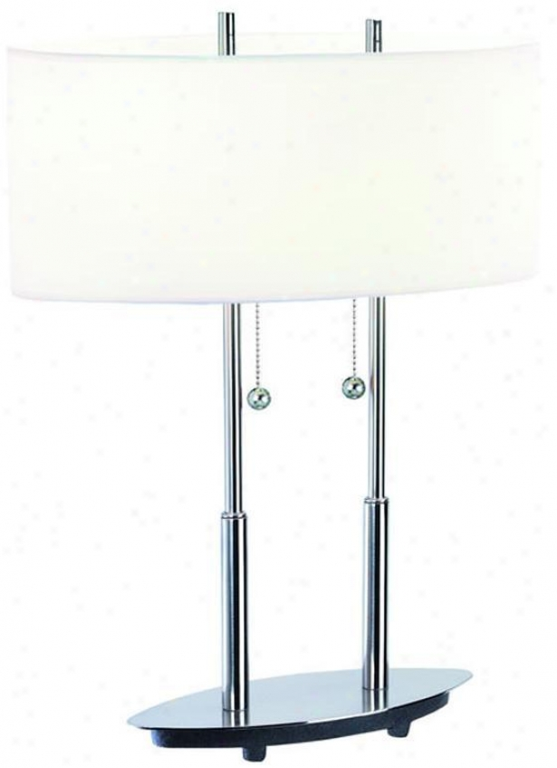 """bliss Table Lamp - 20""""hx10.5""""d, Silver"""