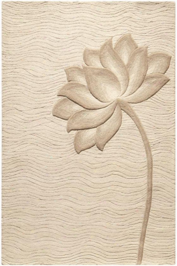 """bloom Rug - 3'6""""x5'6"""", Pure"""