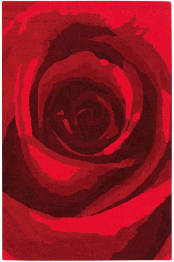 """blossom Rug I - 2'9""""x14' Runner, Red"""